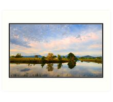 Rous River, Tweed Valley, Australia Art Print