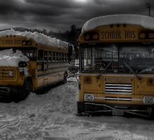Buses in Nuclear Winter by ParadoxGraphics