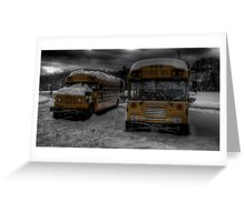 Buses in Nuclear Winter Greeting Card