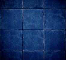 My blue wall by Ruben D. Mascaro