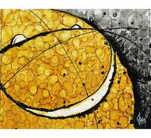 Yellow Smiley Face Emoji Photographic Print