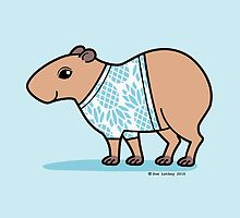 Capybara in Blue Pineapple T Shirt by zoel