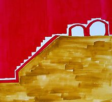 Arches in Landscape original painting by CrowRisingMedia