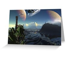 Alien arcadia Greeting Card
