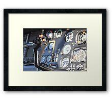 Helicopter gauges close up puma Framed Print