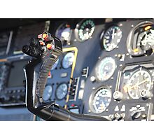 Helicopter gauges close up puma Photographic Print