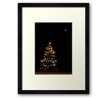 Let there be light, snow and Christmas Framed Print