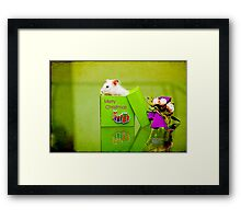 i have a present for you Framed Print