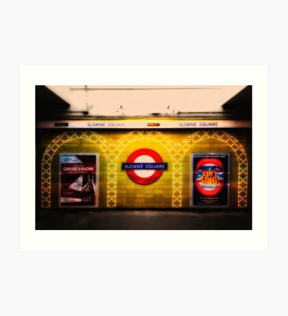 Sloane Square Tube Station Art Print