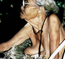 Elderly Palauan Lady by aquamotion