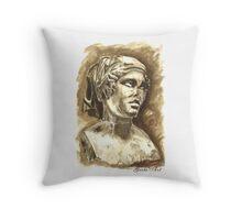 Female Bust - Sculpture I-III DC, Rome Throw Pillow