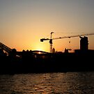 Cityscape Series - Craning to see the Shanghai sunset as it fades into dusk by Christine Oakley
