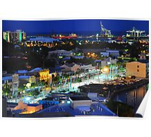 Townsville, Queensland, Australia at night. Capital of Far North Queensland Poster