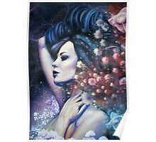 Indigo Child - Surreal Woman in Field with Flying Fish Poster