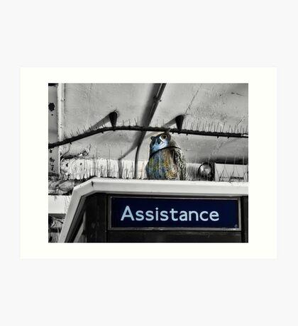 South Harrow Tube Station Art Print