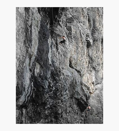 Rattlesnake Rest, Climbers on the Cliffs of Rattlesnake Mountain in NH Photographic Print
