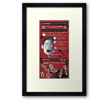 Zombie Infographic  Framed Print