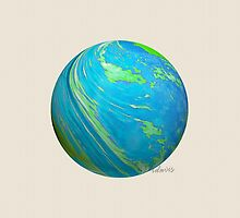 sd Blue Imaginary Planet 112H  by mandalafractal