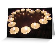 Candle Heart Greeting Card
