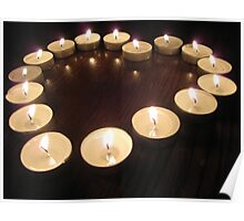 Candle Heart Poster