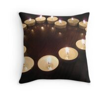 Candle Heart Throw Pillow