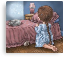 now i lay me down to sleep Canvas Print
