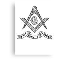 Masons Faith Hope Charity Canvas Print