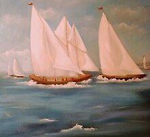 Sea Scape for Paul by Cathy Amendola