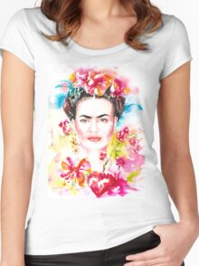 Frida´s Garden Women's Fitted Scoop T-Shirt
