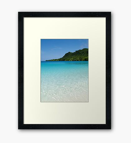 crystal clear. Framed Print