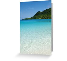 crystal clear. Greeting Card