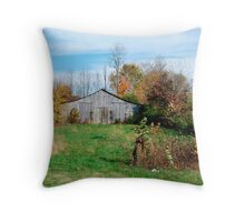 Fall Barn Throw Pillow