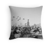 Black Birds  Throw Pillow