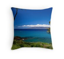 View of Molokai Throw Pillow