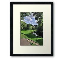 My cheese and wine place Framed Print