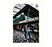 Stratford Tube Station Art Print