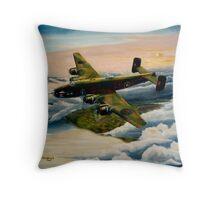 578 Sqdn. P/O Barton VC Throw Pillow