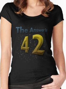 The Answer Is 42 Women's Fitted Scoop T-Shirt