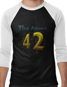 The Answer Is 42 Men's Baseball ¾ T-Shirt