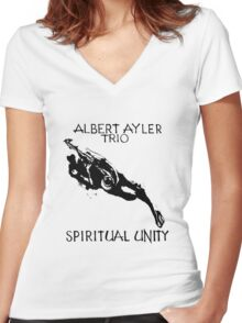 Albert Ayler Trio - Spiritual Unity 1964 Free Jazz Women's Fitted V-Neck T-Shirt