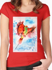 Green Bee Eater Women's Fitted Scoop T-Shirt