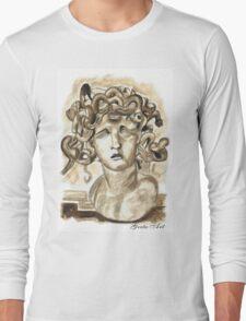 Head Of Meduse - 1630, Gian Lorenzo Bernini Long Sleeve T-Shirt