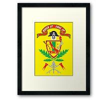 """""""Old School Family Crest"""" Framed Print"""