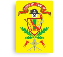 """Old School Family Crest"" Canvas Print"