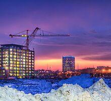 Cold Contruction Site at Sunset by Nicholas Stankus