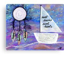 Sweet Dreams, Sweet Heart Canvas Print