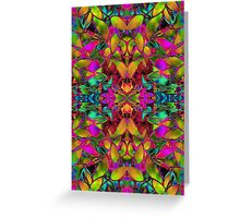 Fractal Floral Abstract Greeting Card