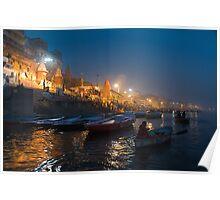 Varanasi Ghats-Before Sunrise-1 Poster