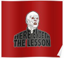 Here Endeth The Lesson - Buffy BTVS Poster
