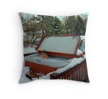 Cozy and Warm in New Jersey Throw Pillow